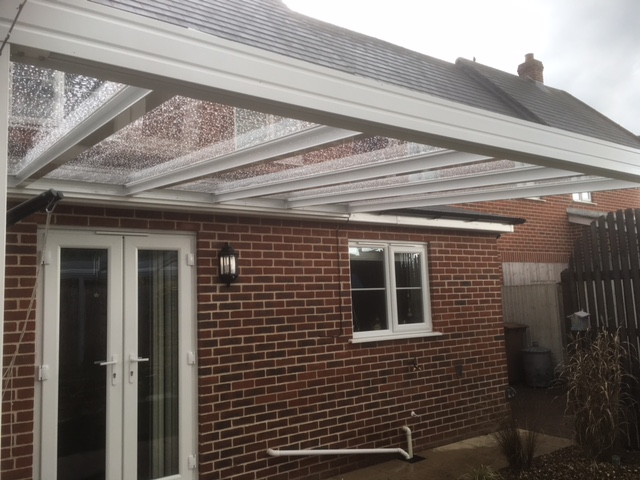 patio canopy white glass 6mm plate polycarbonate