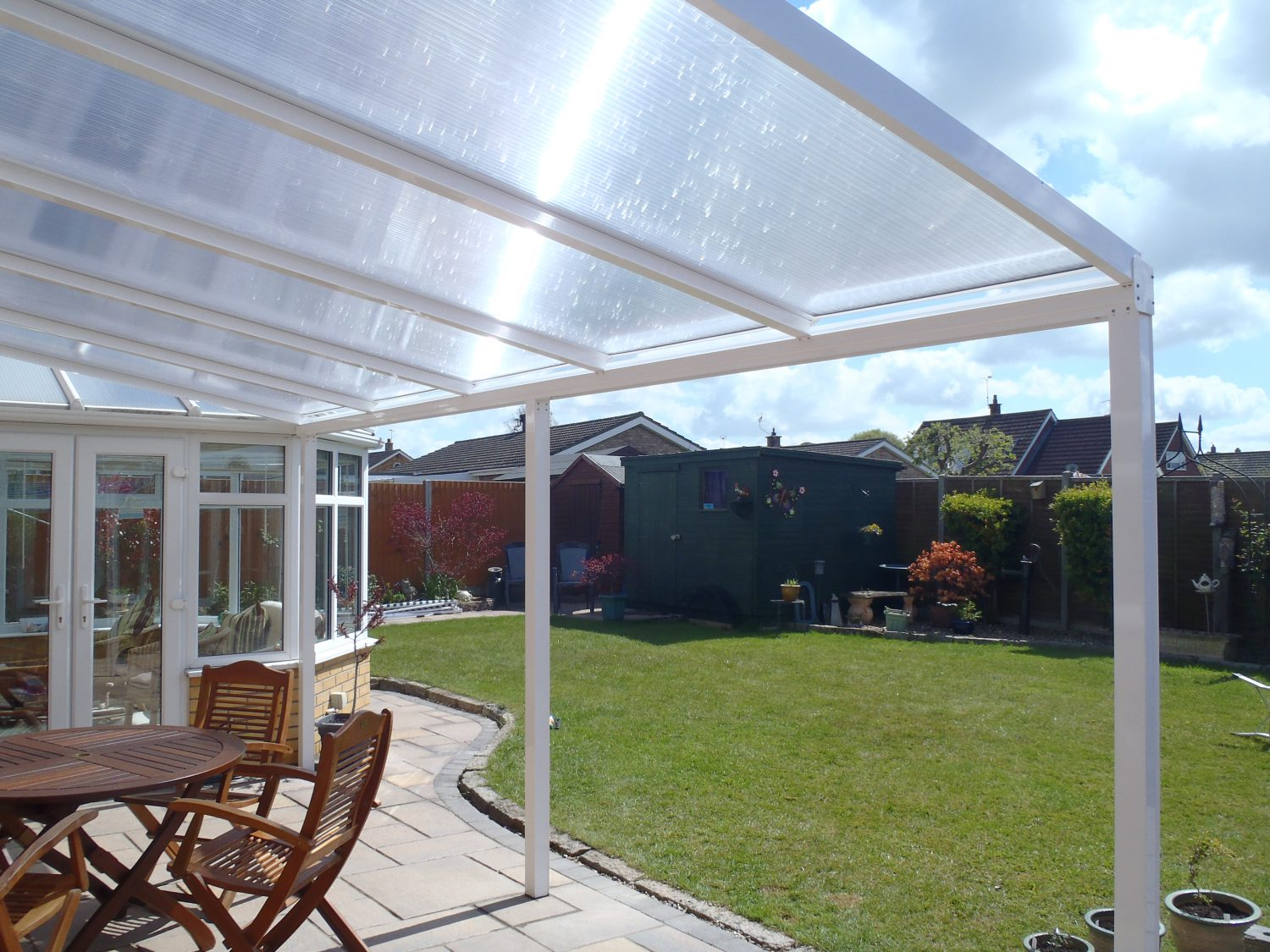 canopy next to conservatory