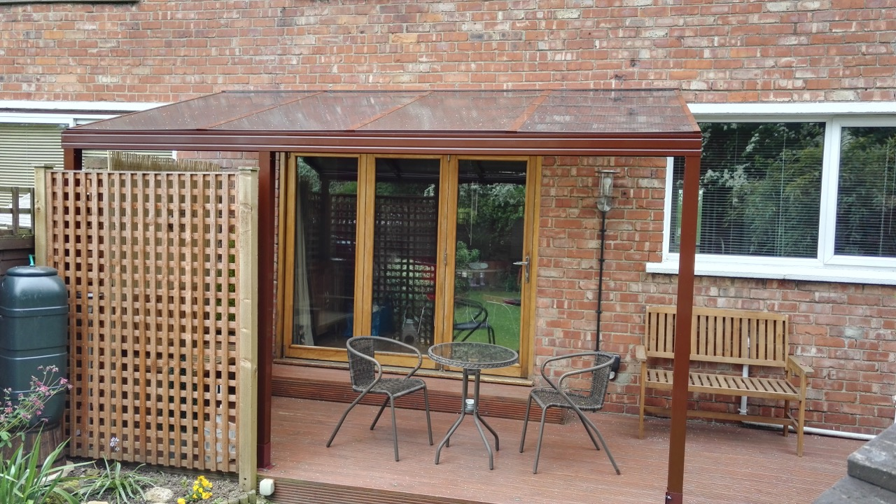 brown polycarbonate roof