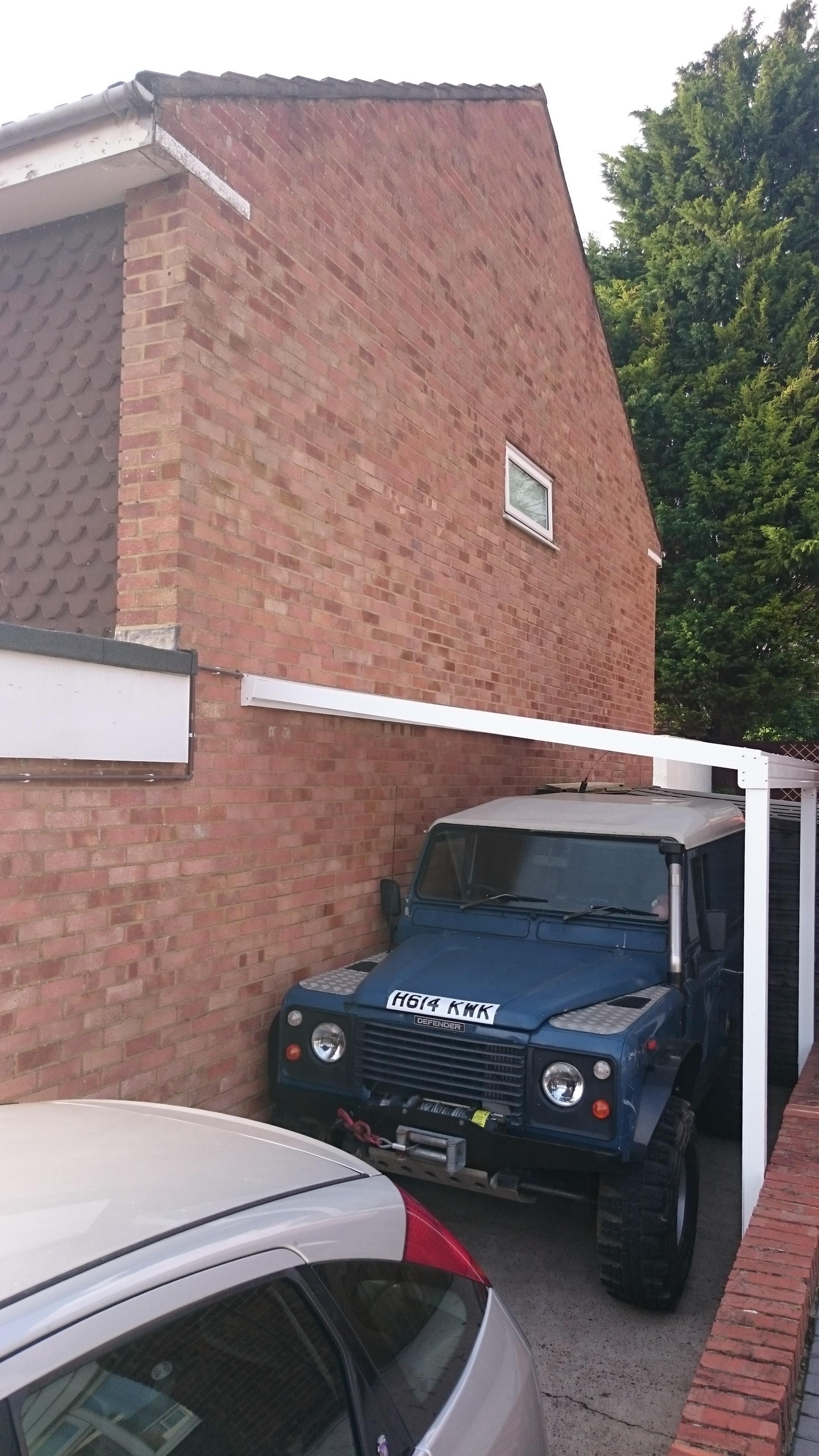 Driveway Car Canopy : Driveway carport in maidstone lumac canopies