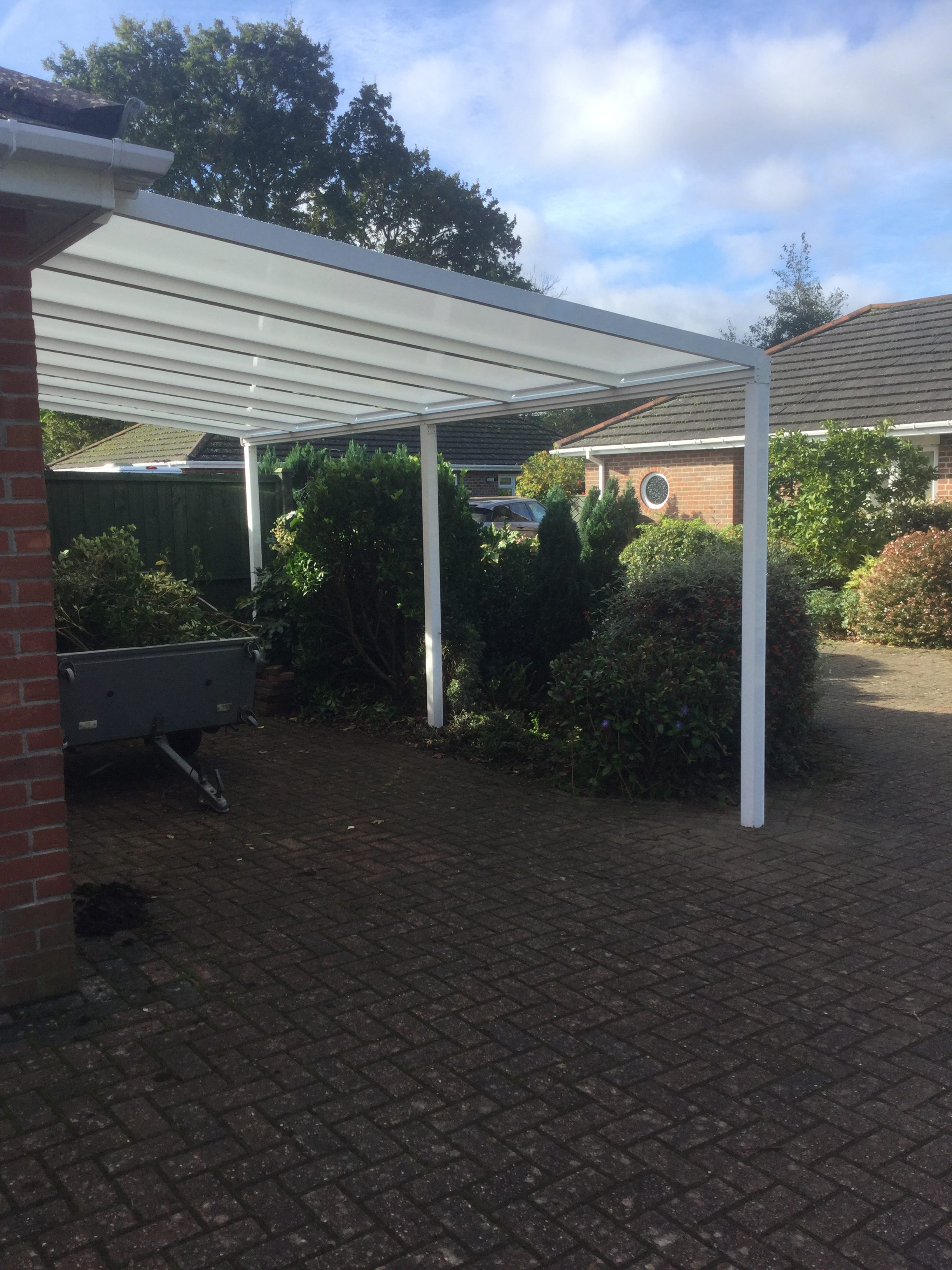 white clear carport canopy