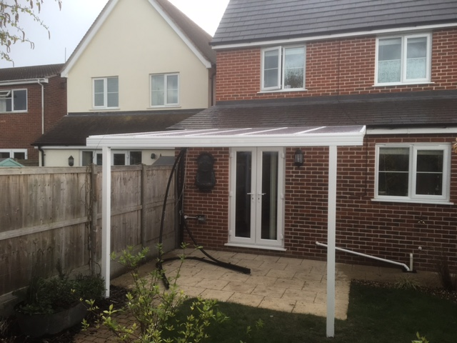 patio canopy white glass