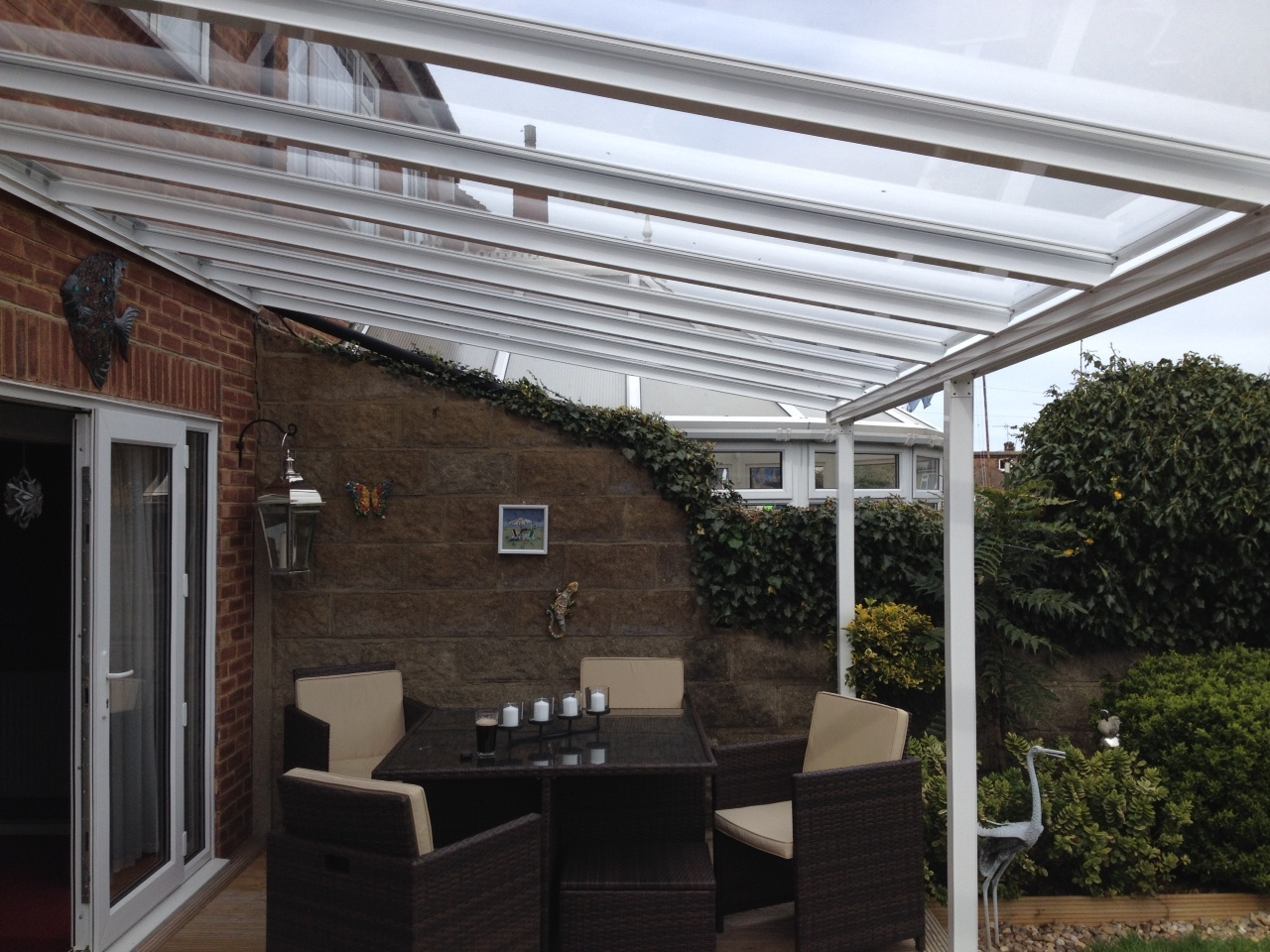 glass decking cover