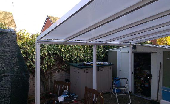 garden aluminium canopy