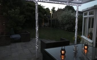 Garden canopy with lighting
