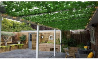 Create a Zen garden space with LuMac Canopies