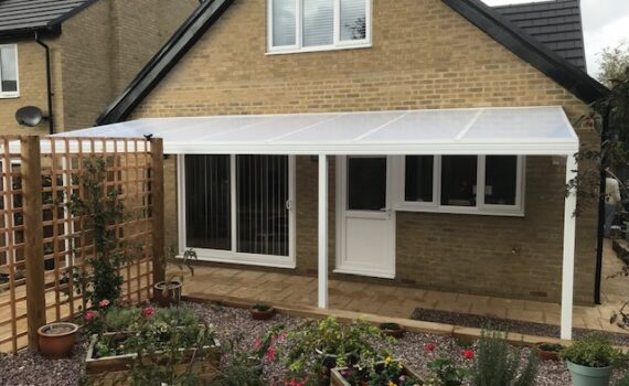 White Lean To Canopy